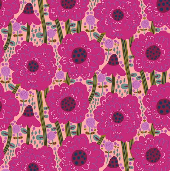 Savernake Road by Monkia Forsberg for Anna Maria Horner Conservatory with Free Spirit Fabrics - Fat Quarter Estelle in Magenta
