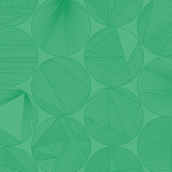 Redux by Guicy Guice for Andover Fabrics - Fat Quarter of Petri in Algae