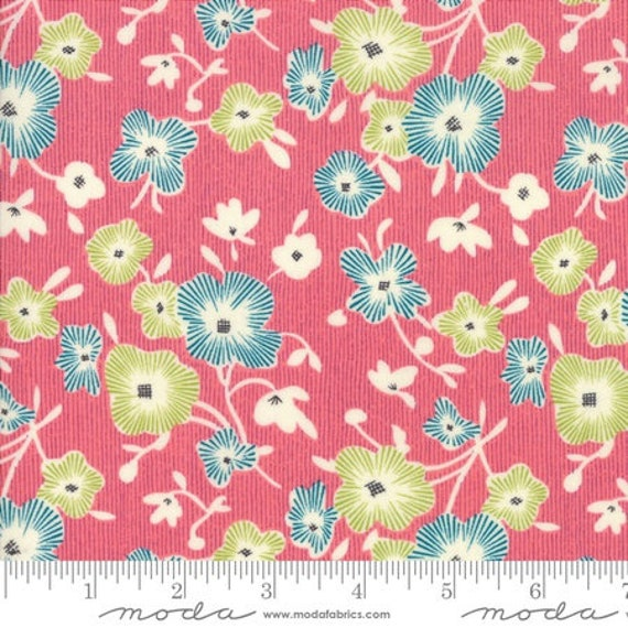 Moda Remix Begonia in Fuchsia (1815515) by Jen Kingwell -- Fat Quarter