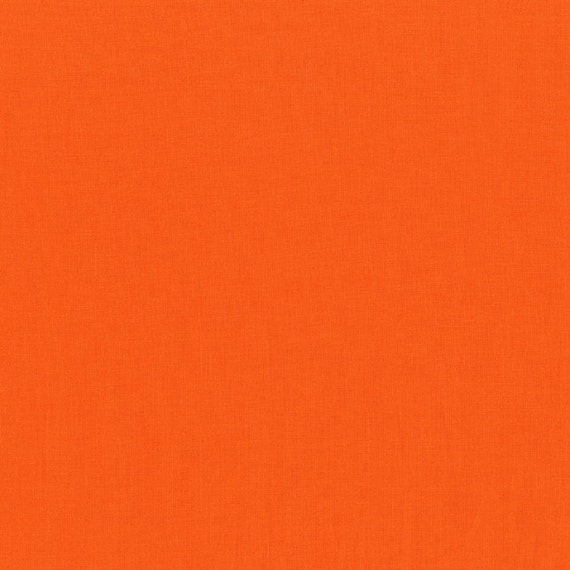 Tangerine Cotton Couture Solid by Michael Miller - Half Metre Cut