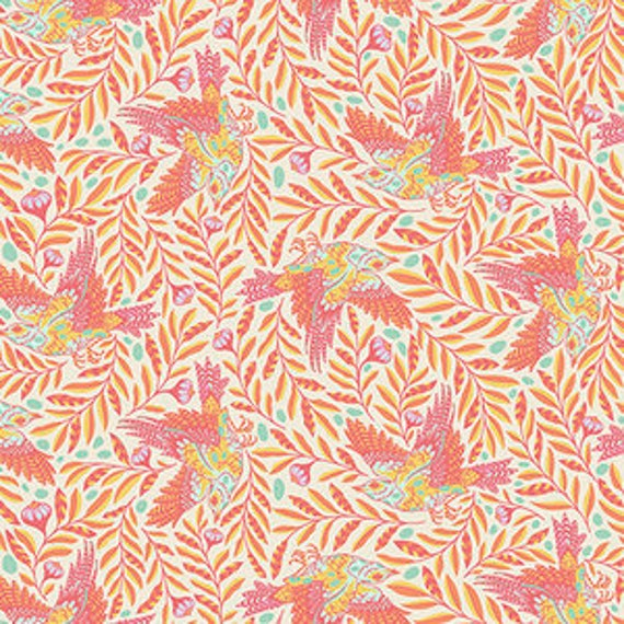 Fat Quarter Re Tweet in Sun Kissed - Tula Pink's Spirit Animal