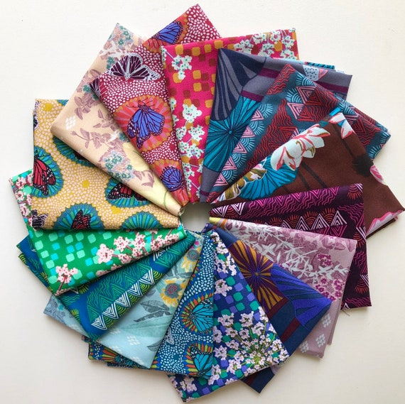 One Mile Radiant Fat Quarter Bundle of Anna Maria Horner Fabrics for Conservatory Chapter 3 -- 15 in total