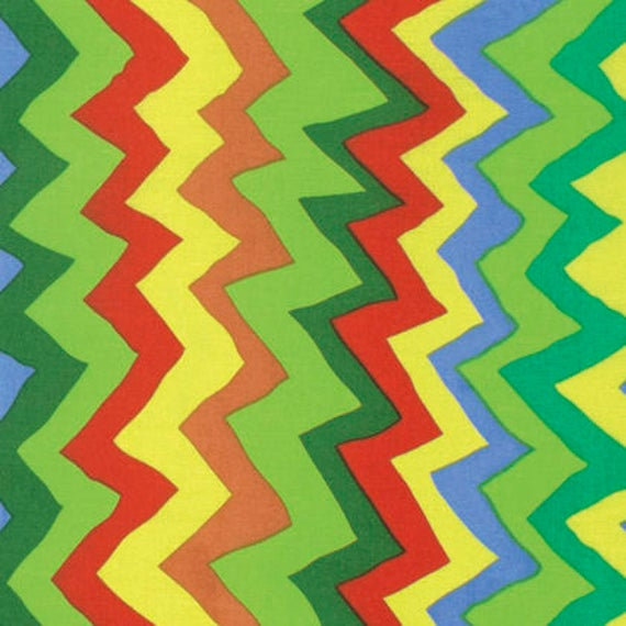 Kaffe Fassett Collective  -- Fat Quarter of Sound Waves in Bright