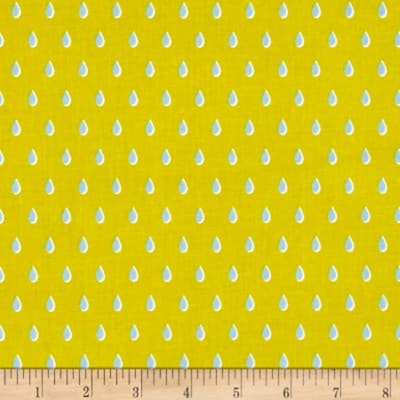 Beauty Shop -- Drops in Yellow by Melody Miller and Sarah Watts for Cotton and Steel