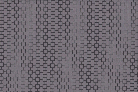 Japanese cotton fat quarter by Kei - Geosquares in grey