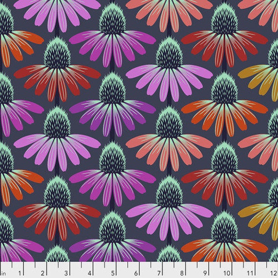 Hindsight by Anna Maria Horner for Free Spirit Fabrics- Fat Quarter of Echinacea Glow in Glow