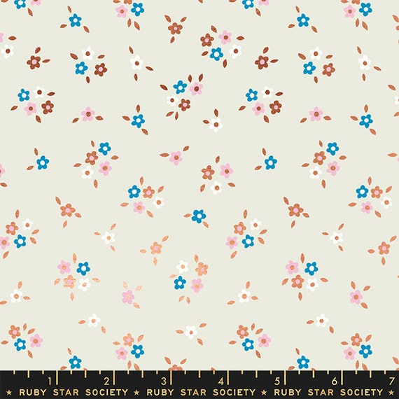 Liana-- Ruby Star Society Fabric, RS3012-11M Calico in Metallic Copper by Kimberly Kight -- Fat Quarter