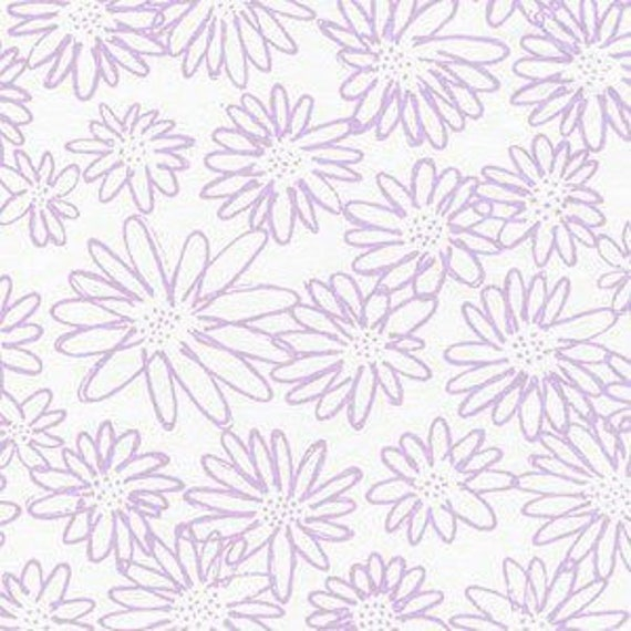 Blueberry Park by Karen Lewis for Robert Kaufman - Scruffy Daisy in Orchid