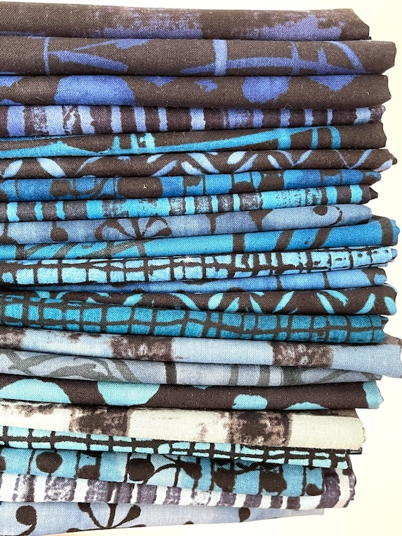 Marcia Derse The Blue One for Windham Fabrics - Fat Quarter Bundle of All 22  Prints -- Panel fabric sold separately