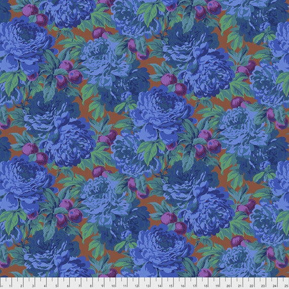 Kaffe Fassett Collective February 2020 -- Fat Quarter of Philip Jacobs Luscious in Blue
