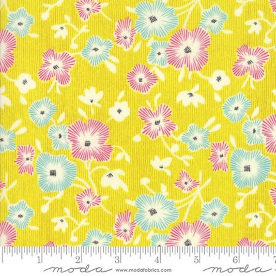 Moda Remix Begonia in Limoncello (1815516) by Jen Kingwell -- Fat Quarter