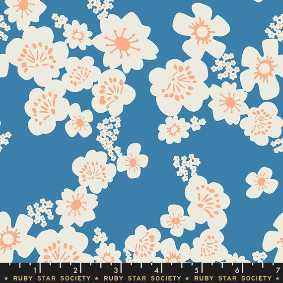 Aviary -- Hana in Chambray (RS5002-12) by Ruby Star Society for Moda -- Fat Quarter