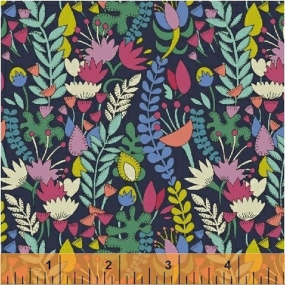 Fantasy by Sally Kelly for Windham Fabrics - Fat Quarter of 51289-1