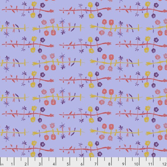 Long Distance by Courtney Cerruti for Anna Maria Horner Conservatory with Free Spirit Fabrics - Fat Quarter of Celebration in Lilac