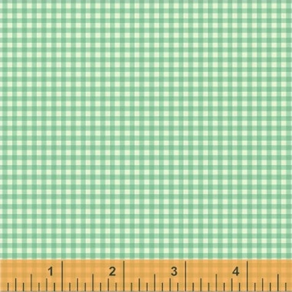 Heather Ross Trixie for Windham Fabrics - Fat Quarter Gingham in Aqua