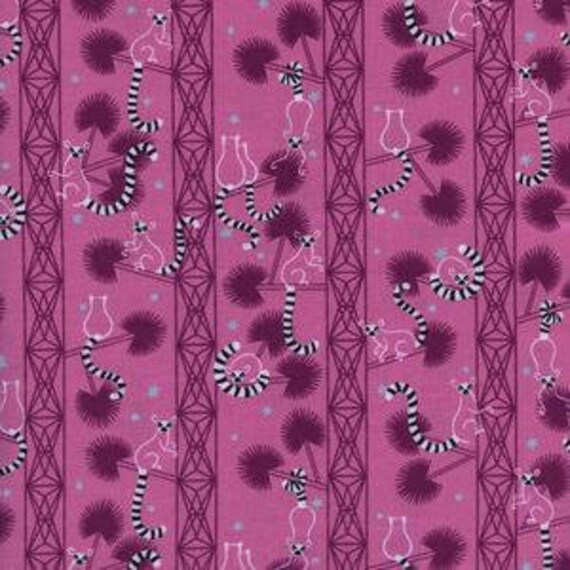 Lagoon --  Lemur Forest in Orchid by Rashida Coleman Hale for Cotton and Steel