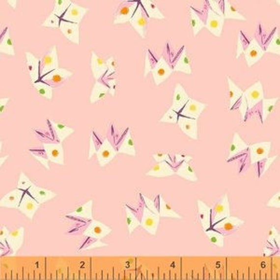 Heather Ross Sleeping Porch for Windham Fabrics - Fat Quarter Fortune Teller in Light Pink