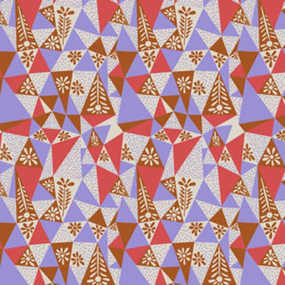 Sweet Dreams by Anna Horner for Free Spirit Fabrics - Garden Prism in Plum