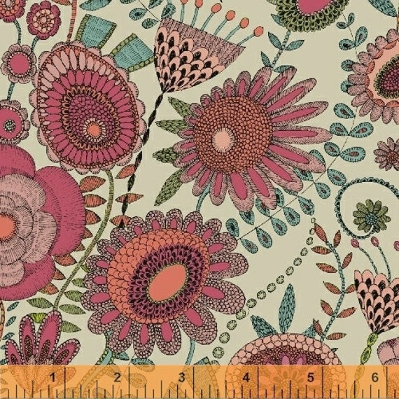 Fantasy by Sally Kelly for Windham Fabrics - Fat Quarter of 51288-4