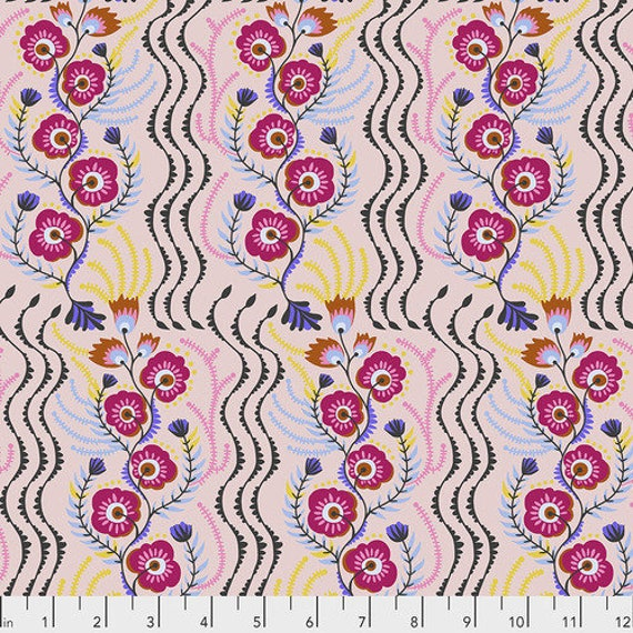 Tambourine by Anna Horner for Free Spirit Fabrics - Messages in Perfume