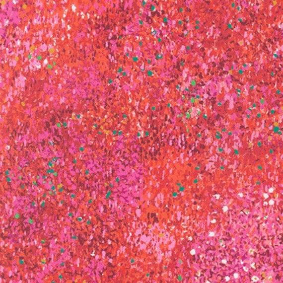 Painterly Petals by Robert Kaufman- Fat Quarter of SRKD-19150-3 RED