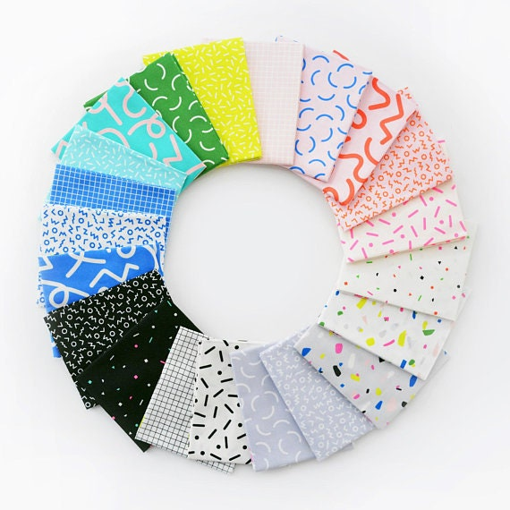 Snap to Grid -- Fat Quarter bundle of 21 Fabrics by Kimberley Kight for Cotton and Steel