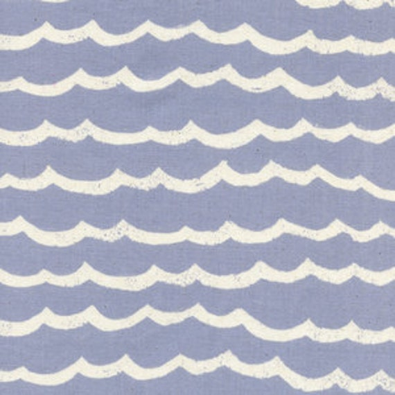 Kujira and Star by Rashida Coleman Hale for Cotton and Steel - Fat Quarter- Waves in Fog