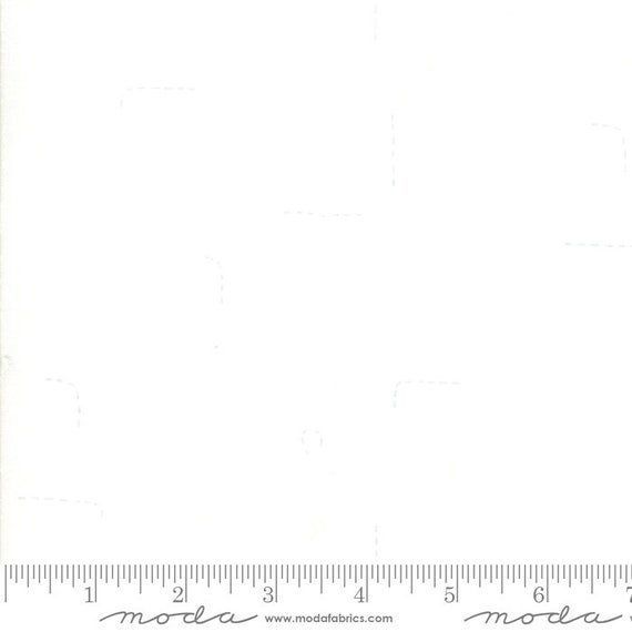 Breeze -- Stitched in White (1693 11) by Zen Chic for Moda -- Fat Quarter