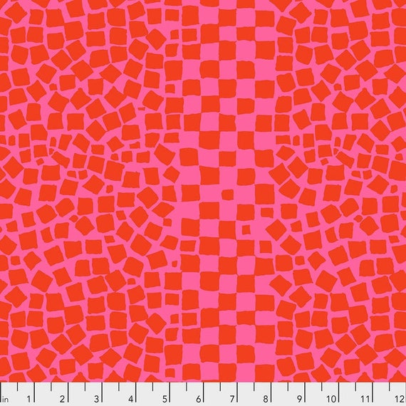 Kaffe Fassett Collective February 2021 -- Fat Quarter of Brandon Mably Chips in Rose