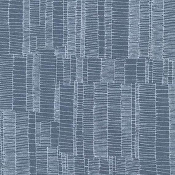 Doe by Carolyn Friedlander - Ladder Lines in Slate- Fat Quarter