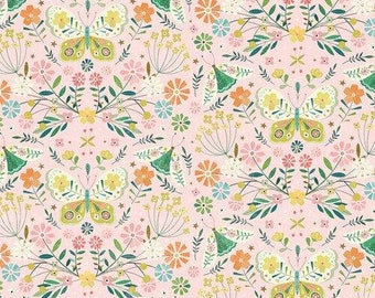 Hedgerow by Bee Brown for Dashwood Studio - Butterfly and Moths - Fat Quarter