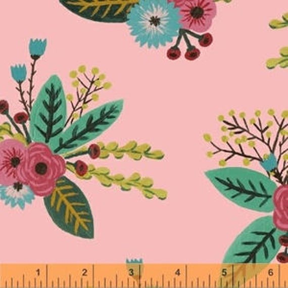 Meriwether by Amy Gibson for Windham Fabrics - Bushel and Peck in Petal - Fat Quarter