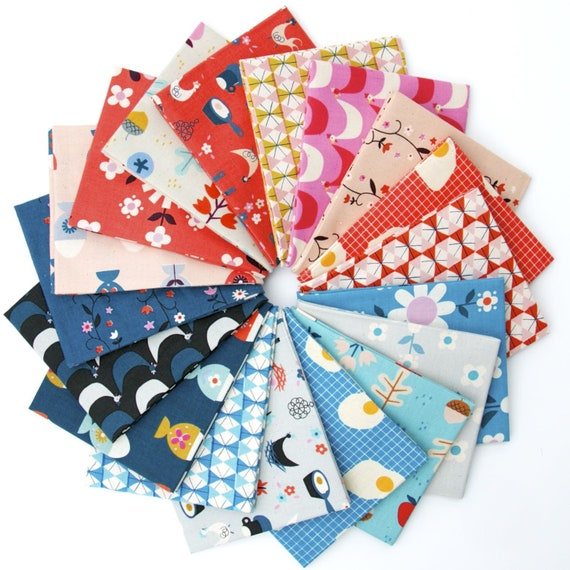 Welsummer -- Fat Quarter bundle of 18 Fabrics by Kimberley Kight for Cotton and Steel