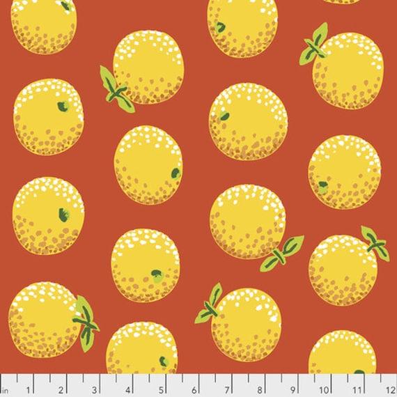 Kaffe Fassett Collective February 2020 -- Fat Quarter of Kaffe Fassett Oranges in Yellow
