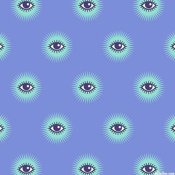 Fat Quarter I See You in Haunted  - Tula Pink's De La Luna Fabric for Free Spirit Fabrics