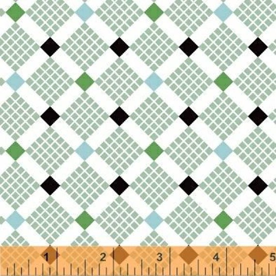 Uppercase Volume 2 by Janine Vangool for Windham Fabrics - Feed Sack in Green - Fat Quarter