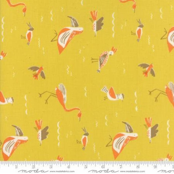 Moda Yucatan Seabirds in Sunshine (1671117) by Annie Brady -- Fat Quarter