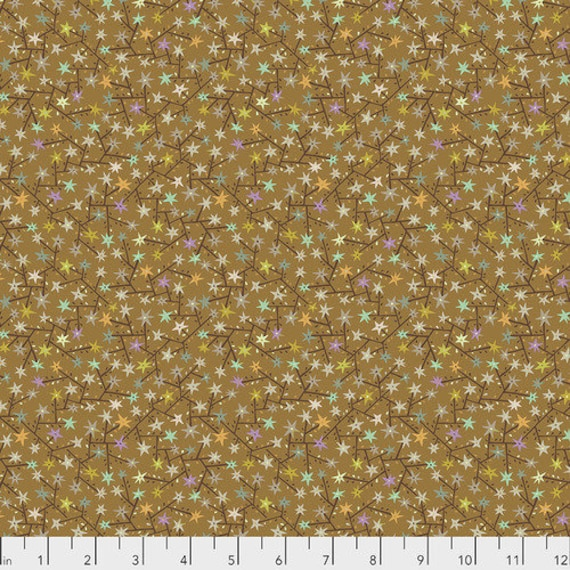 New Vintage by Kathy Doughty for Free Spirit Fabrics - Fat quarter of Tangled in Caramel