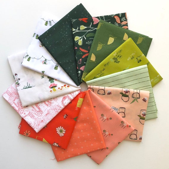 Dew and Moss by Alexandra Bordallo for Art Gallery Fabrics - Fat Quarter of Bundle of all 12