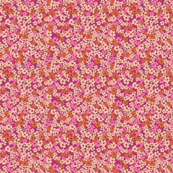 Art Gallery Retro Prairie Blush in Rayon - Purchase in 25cm Increments