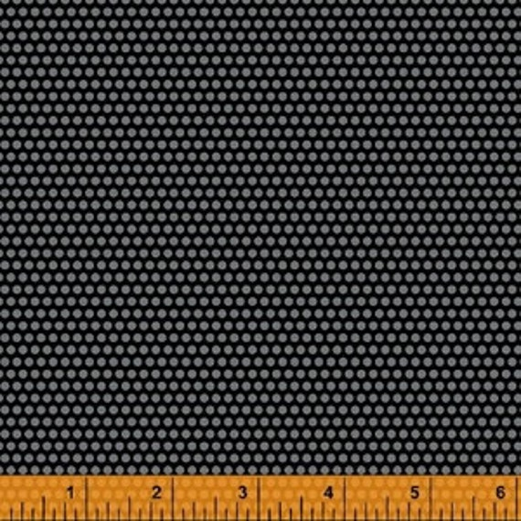 Uppercase by Janine Vangool for Windham Fabrics - Perforated in Charcoal - Fat Quarter