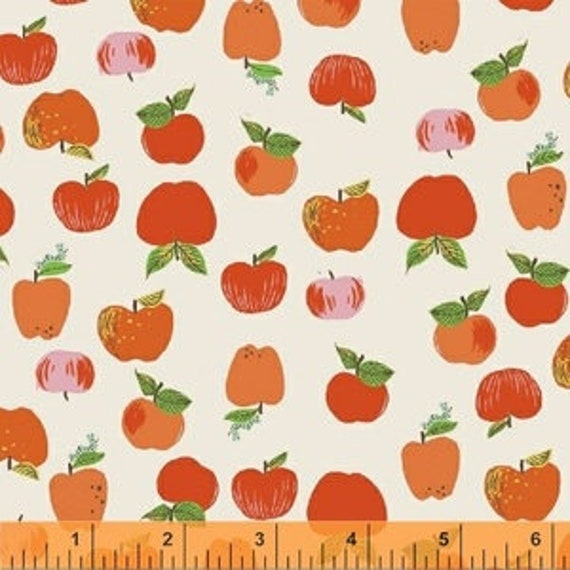 Heather Ross Kinder for Windham Fabrics - Fat Quarter Apples in Red