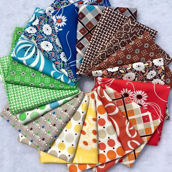 Katie Jump Rope by Denyse Schmidt for Free Spirit Fabrics - Fat Quarter Bundle