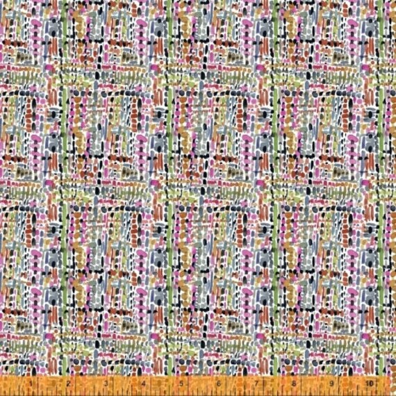Fox Wood by Betsy Olmsted for Windham Fabrics - Fat Quarter of 51922-X Tweed in Multi