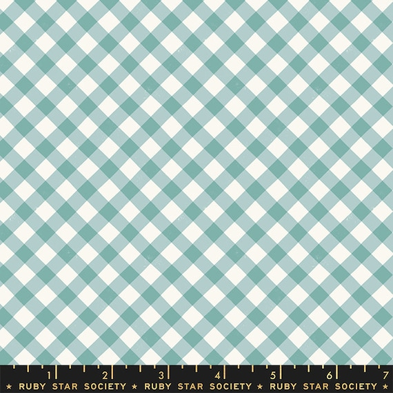 Food Group Painted Gingham in Polar (RS5044 14) by Ruby Star Society -- Fat Quarter