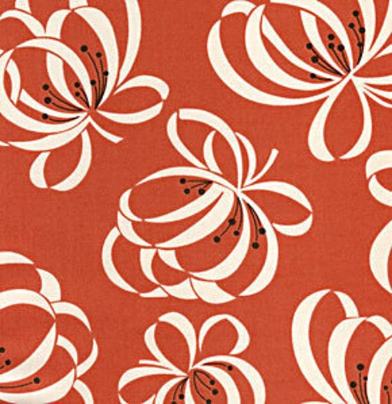 Katie Jump Rope by Denyse Schmidt for Free Spirit Fabrics -  Ribbons in Orange