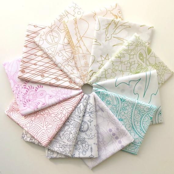 sunprint Light by Alison Glass for Andover Fabrics Fat Quarter Bundle of 12