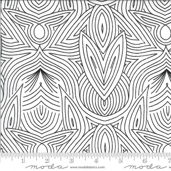 Dwell in Possibility-- Ivory Night (48316 19M) by Gingiber for Moda -- Fat Quarter