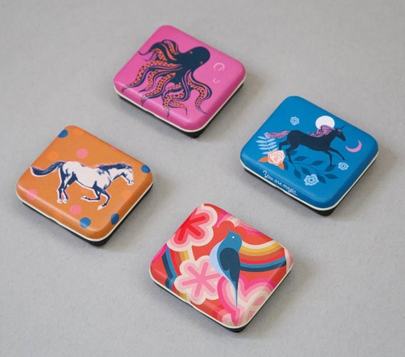 """Ruby Star Society Tin Assortment- 4 Different Designs- 3"""" x 2.5"""" Each"""