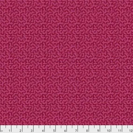 Jardin de la Reine by Odile Bailloeul for Free Spirit Fabrics - Fat quarter of Palace Maze in Rose